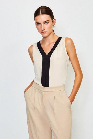 Ivory Silk Satin Vest