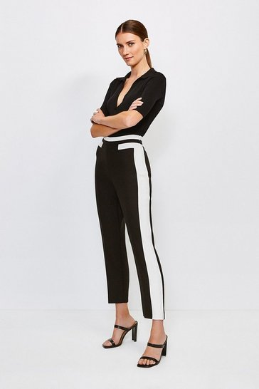 Mono Colour Block Trouser