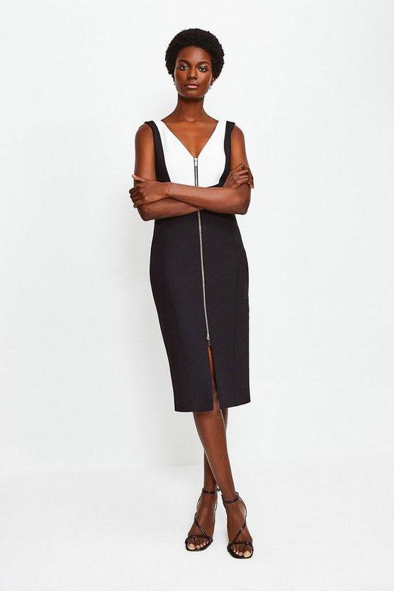 Mono Panel Block Pencil Dress