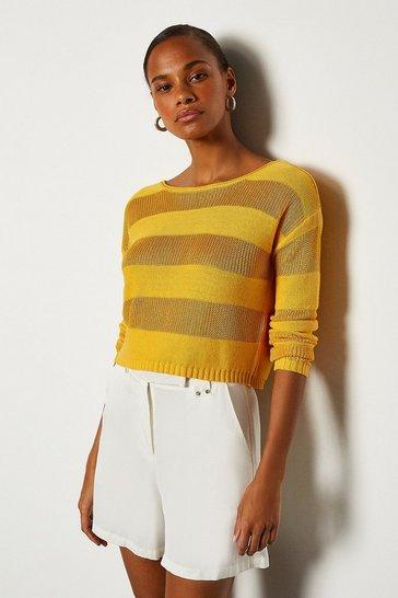 Yellow Stitch Stripe Jumper