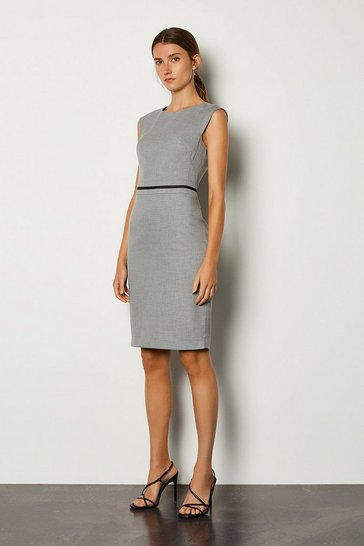 Grey Cap Sleeve Shift Dress