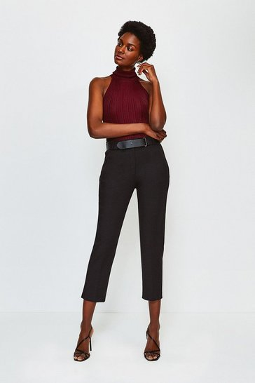 Black Forever Belted Trouser