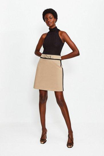 Camel Utility Snaffle Trim Skirt