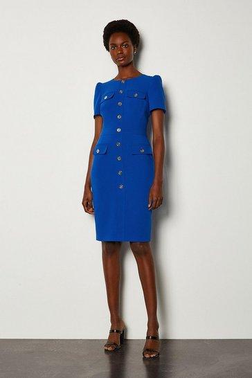 Blue Utility Dress