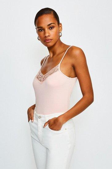 Blush Lace Trim Vest