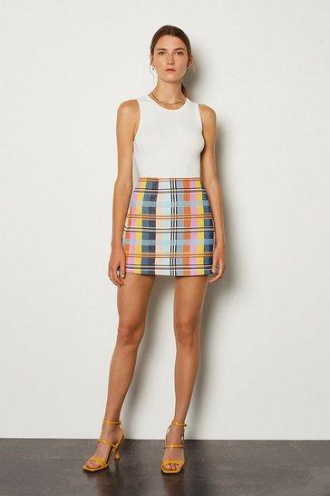 Multi Checked Skirt