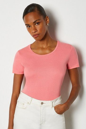 Coral Crew Neck T-Shirt
