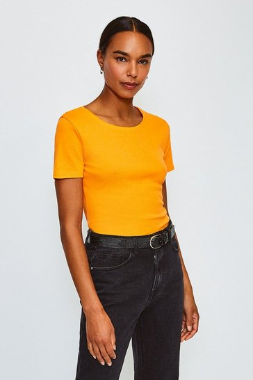 Orange Crew Neck T-Shirt
