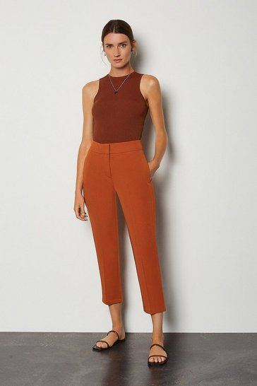 Orange Cotton Sateen 7/8 Trouser