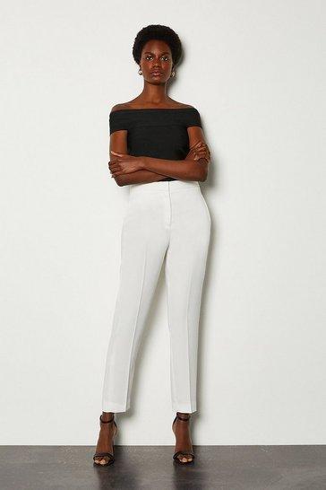 Ivory Soft Tuxedo Peg Trouser