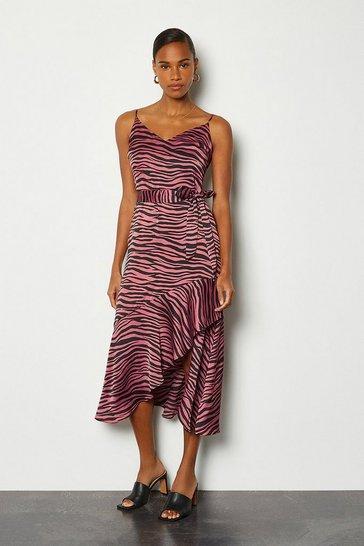 Pink Tiger Senorita Bubble Satin Dress