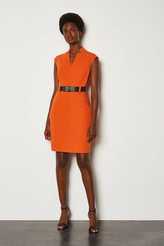 Orange Forever Cap Sleeve Short Dress