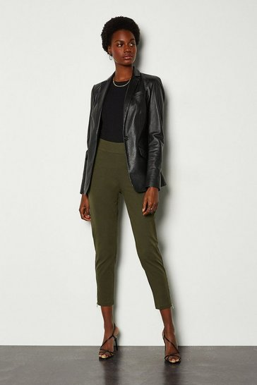 Khaki High Waisted Legging