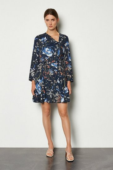 Floral Dark Meadow Print Dress