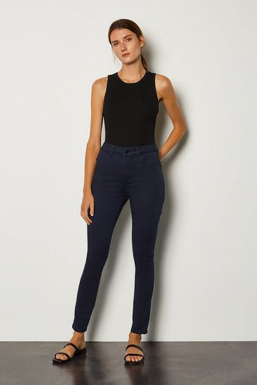 Navy Skinny Cotton Regular Jean