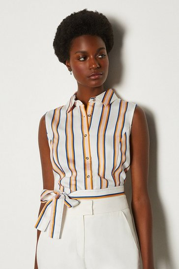 Stripe Striped Sleeveless Shirt