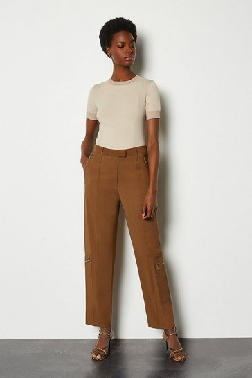 Camel Straight Pant
