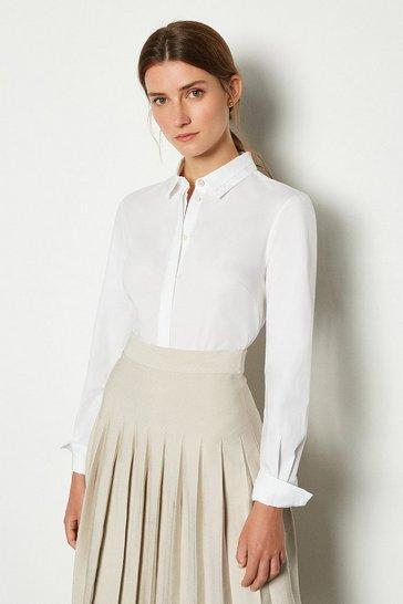 White Long Sleeved Shirt