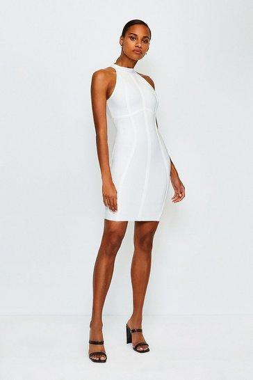 White Racer Bandage Dress
