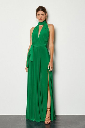 Green Multiway Jersey Maxi Dress