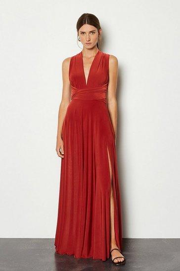 Rust Multiway Jersey Maxi Dress