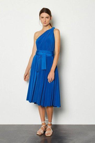 Cobalt Multiway Jersey Midi Dress