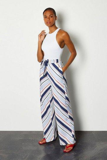 Stripe Striped Palazzo Trousers