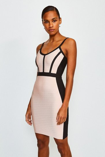 Multi Seamed Bandage Dress