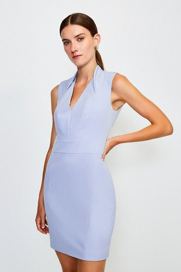 Pale blue Cut Out Back Mini Dress