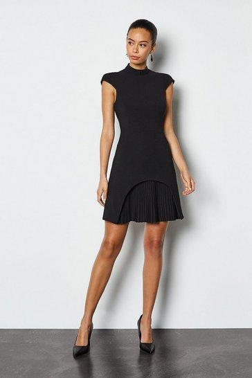 Black Military Tailored Dress