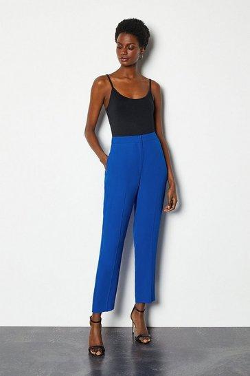 Blue Soft Tuxedo Peg Trouser
