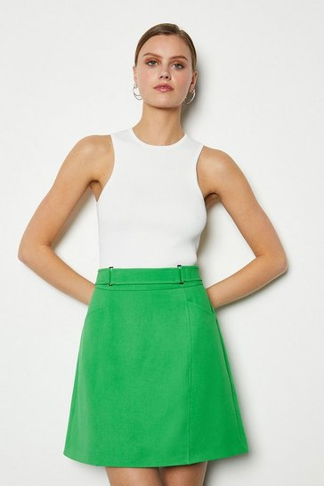 Green Square D Ring Skirt