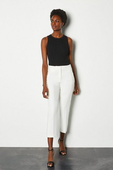 Ivory Tailored Trousers