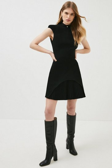 Black Military Tailored Dress