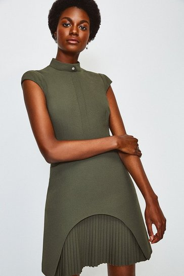 Green Military Tailored Dress