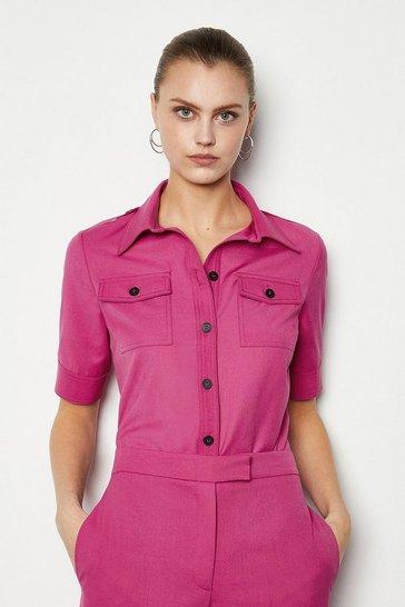 Fuchsia Tailored Shirt