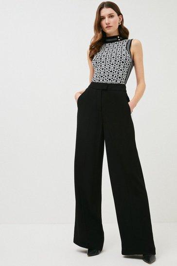 Black Soft Tuxedo Trouser