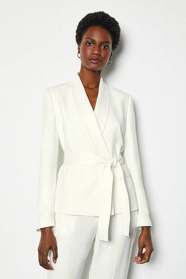 Ivory Soft Tuxedo Jacket