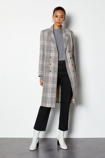 Multi Spring Check Coat