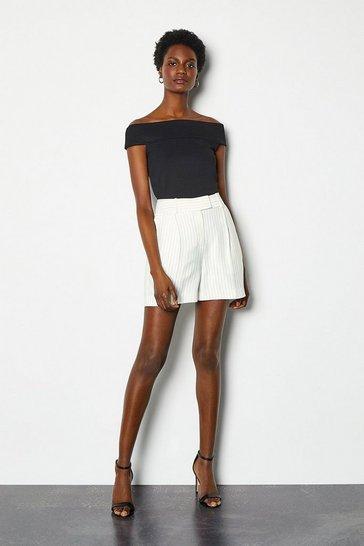 Ivory Summer Stripe Short