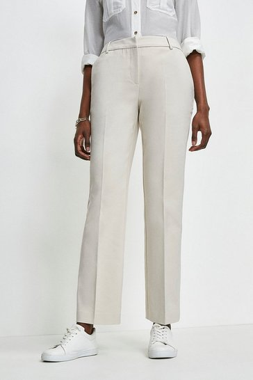 Light stone Essential Straight Leg Trouser