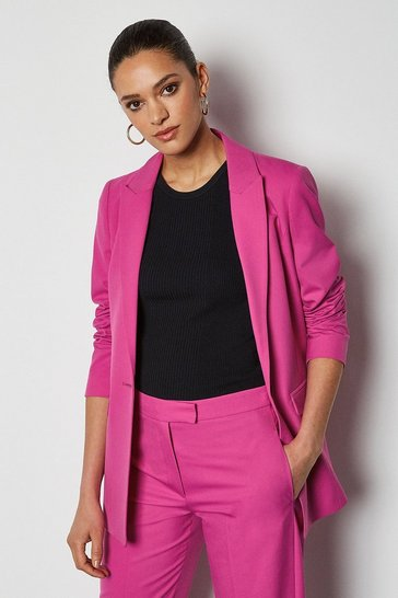 Pink Tailored Suit Jacket