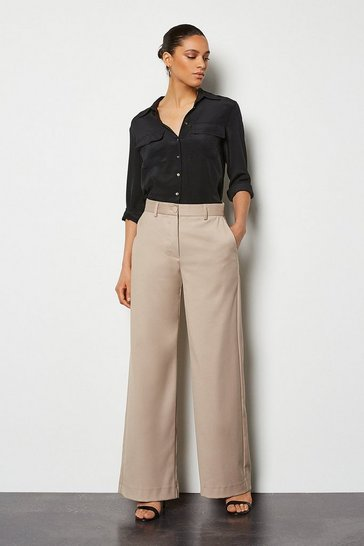 Stone Tailored Wide Leg Trouser