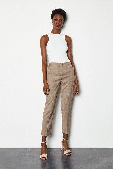 Multi Tailored Check Narrow Trouser