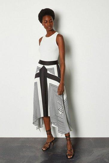Ivory Printed Skirt