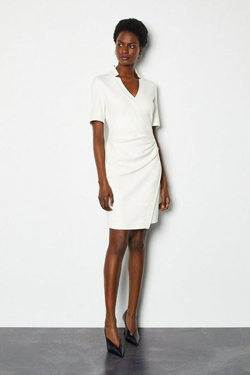 Ivory Forever Short Wrap Dress