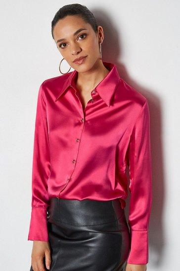Pink Collared Silk Shirt