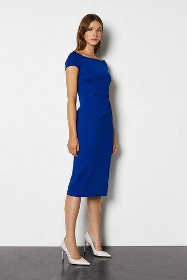 Blue Highline Bardot Dress