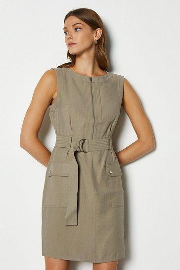 Stone Soft Utility Dress