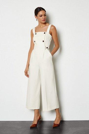 Ivory Sleek and Sharp Jumpsuit